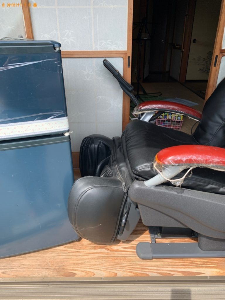 【栃木市】遺品整理で冷蔵庫、マッサージチェアの回収・処分ご依頼