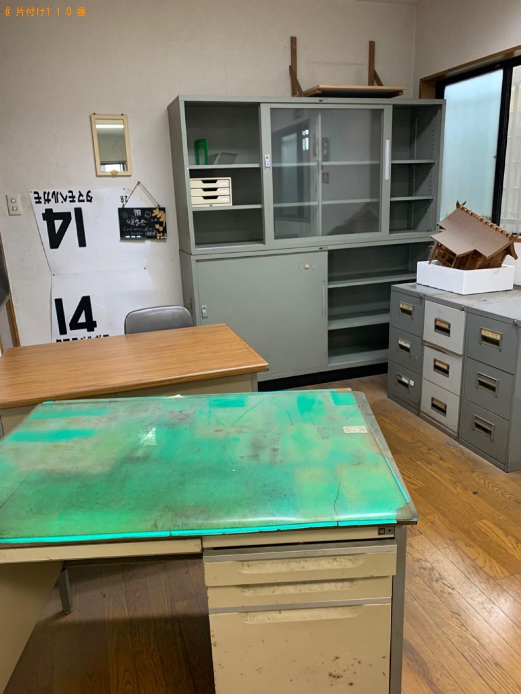 【宇都宮市】冷蔵庫、キャビネット、事務机、発泡スチロール等の回収