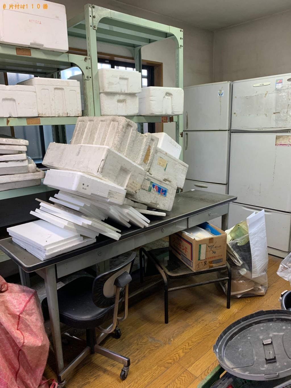 【真岡市】冷蔵庫、キャビネット、事務机、発泡スチロール等の回収