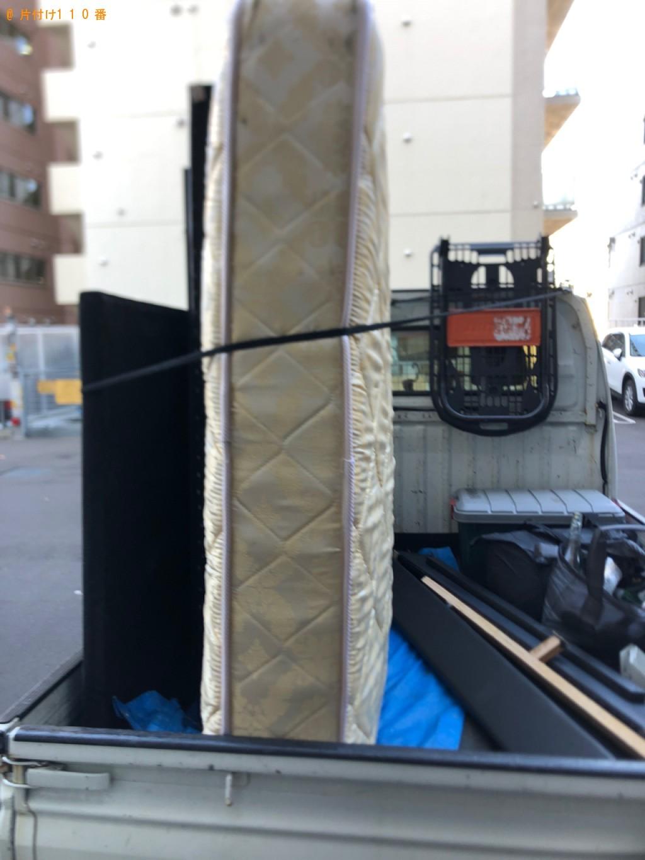 【栃木市】マットレス付きダブルベッドの回収・処分ご依頼