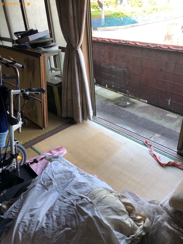 【宇都宮市】テレビ台、布団、マットレス付きダブルベッドの回収