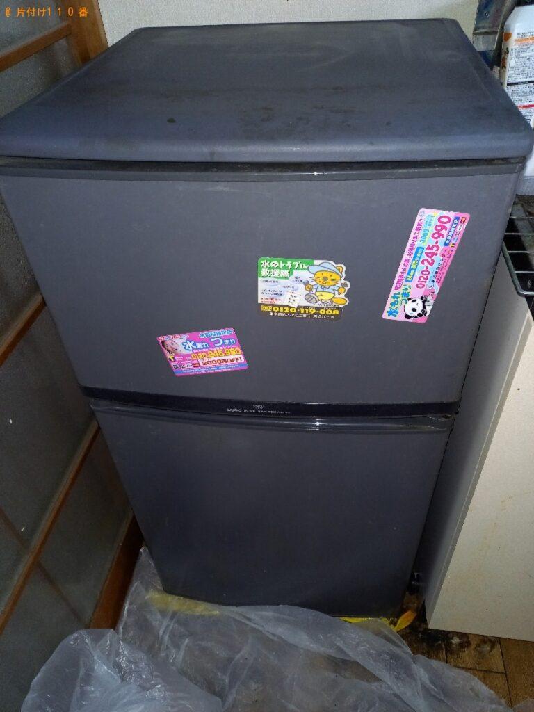 【宇都宮市】遺品整理で冷蔵庫、ラック、一般ごみ等の回収・処分ご依頼