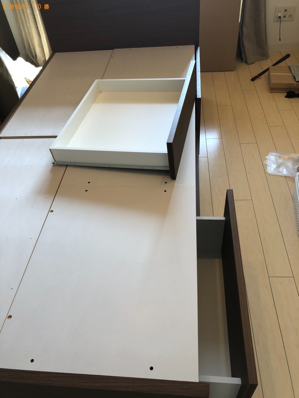 【宇都宮市】マットレス付きシングルベッドの回収・処分ご依頼