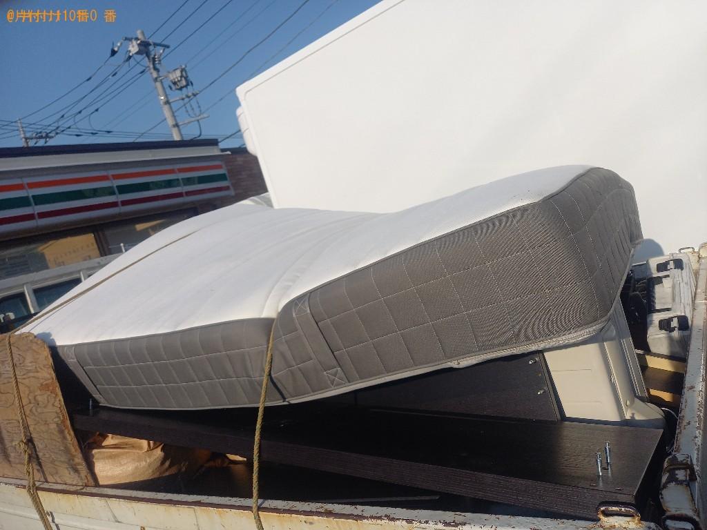 【宇都宮市】マットレス付きダブルベッドの回収・処分ご依頼